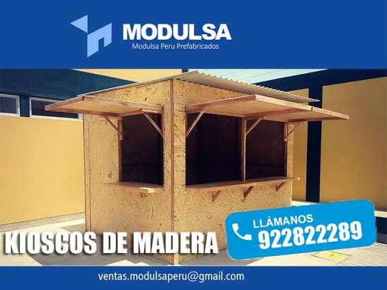 Kioscos prefabricados de madera y osb