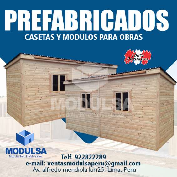 Modulos casas aulas kioscos almacenes prefabricados de madera en lima