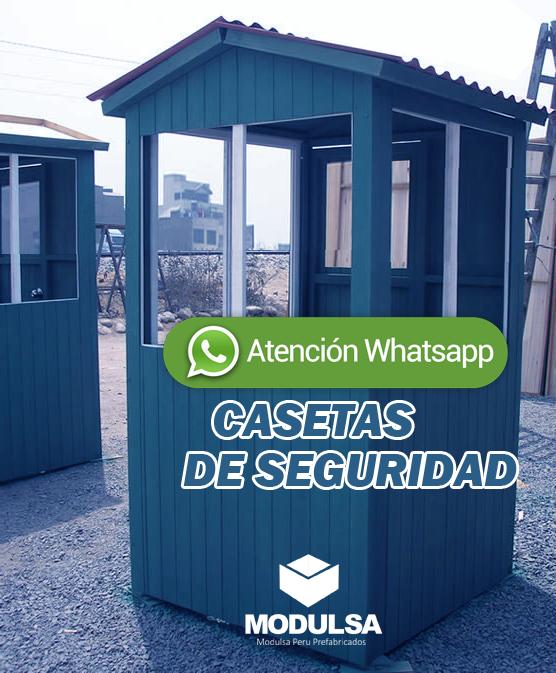 Casetas para seguridad prefabricada madera