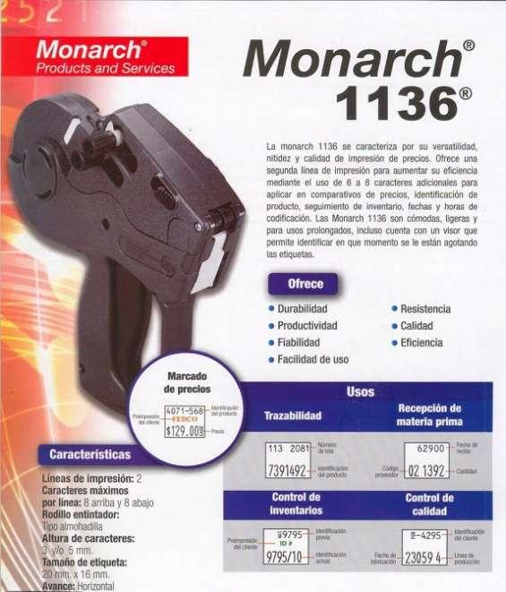 Etiquetadora de doble linea de impresión mo1136