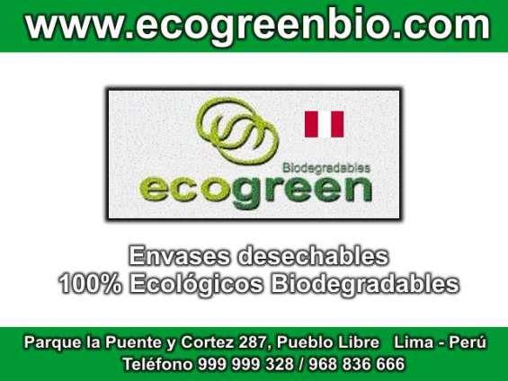 Descartables biodegradables lima perú ecogreenbio envases ecológicos desechables lima perú