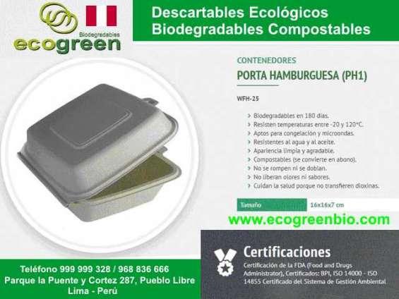 Envases desechables lima perú biodegradables ecológicos ecogreenbio envases desechables