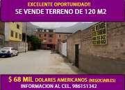 OCASIÓN VENTA DE TERRENO DE 120 M2