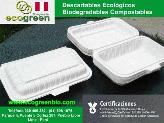 Descartables biodegradables lima perú para delivery de alimentos envases lima perú