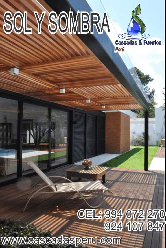 Techos Sol Y Sombra De Madera Para Terrazas Azoteas Jardín