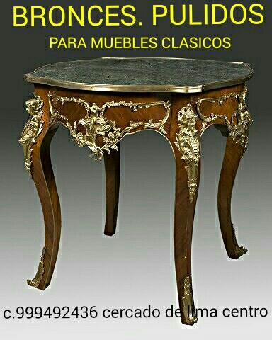 Pulido de bronce y muebles antiguos lima perú