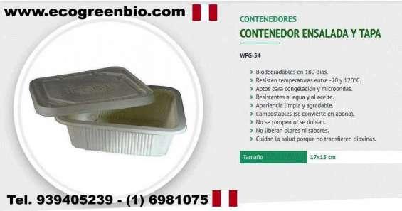 Biodegradables descartables en lima peru ecogreenbio para delivery de alimentos