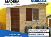 Casetas para seguridad-Depositos bodegas almacén prefabricados de madera