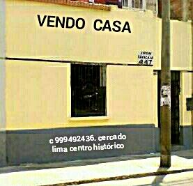 Vendo casa de primer piso con aires cercado de lima centro histórico capital perú