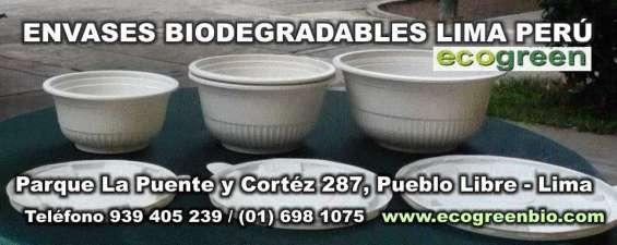 Envases ecologicos biodegradables pueblo libre peru lima ecogreenbio venta por mayor