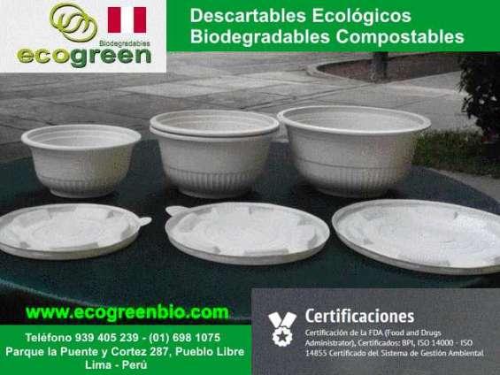 Ecogreenbio envases biodegradables por mayoreo en lima pueblo libre peru