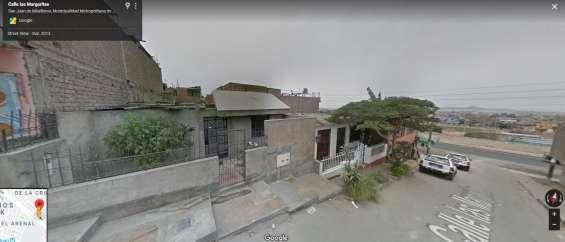 Se vende casa como terreno en san juan de miraflores a un paso de pista nueva $168,000