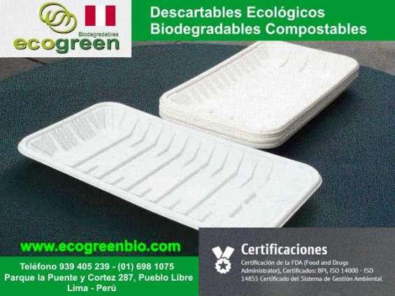 Ecogreenbio envases biodegradables lima peru pueblo libre envases descartables