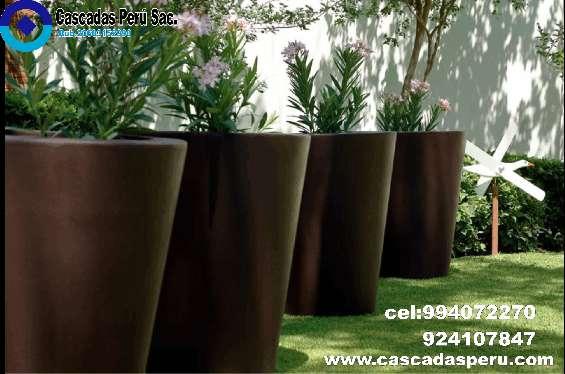 Macetas de cerámica grandes