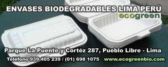 Envases biodegradables lima ecogreenbio peru pueblo libre envases descartables