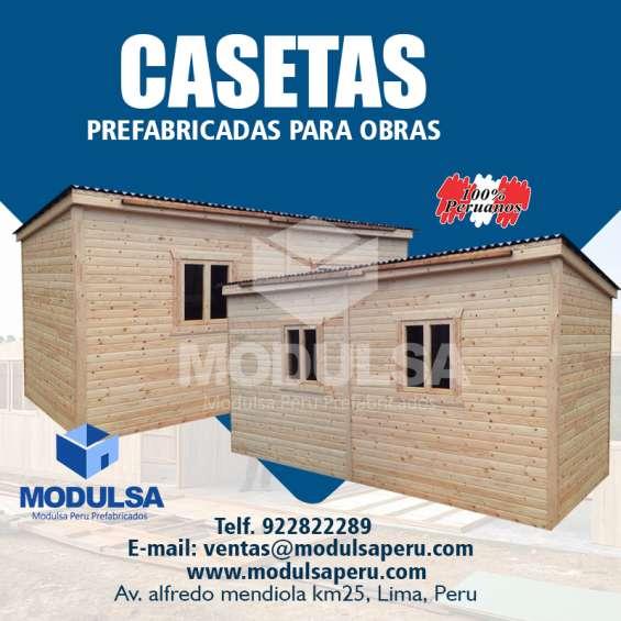 Casetas de madera- casetas de seguridad- modulo de seguridad