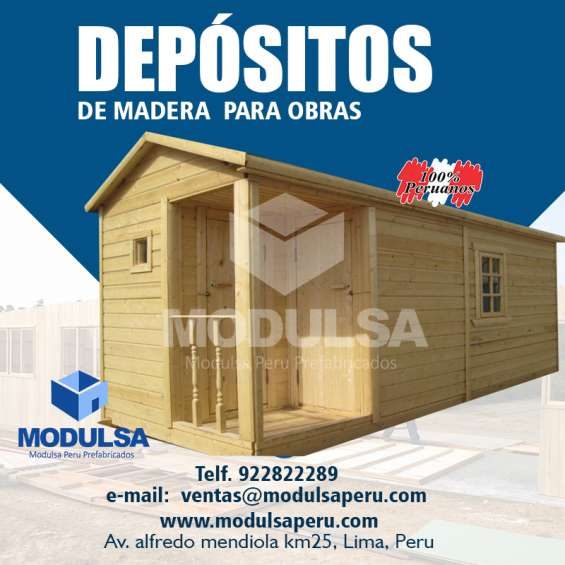 Depositos prefabricados para obras