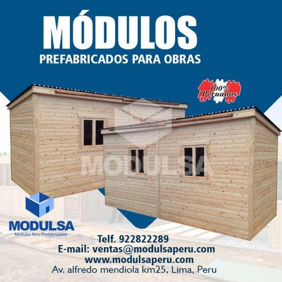 Modulo almacen de madera-almacen prefabricado-almacen de madera