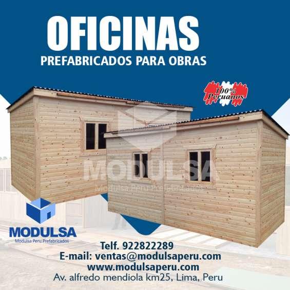 Oficinas de madera para obras de construcción en lima