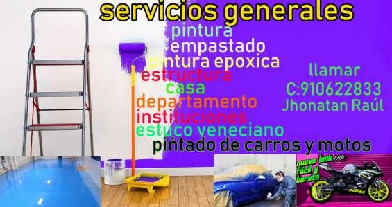 Servicio en general de pintura