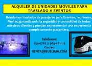 Alquiler de unidades móviles para traslado A EVENTOS