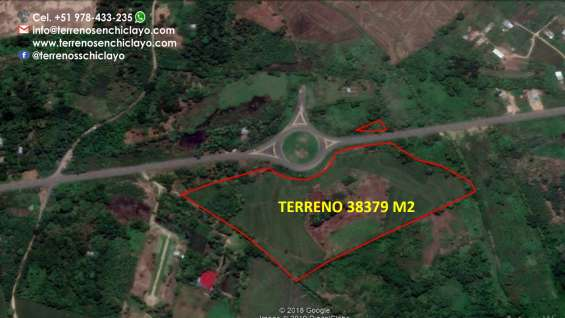 En venta un hermoso terreno de 38379m2, frente a al ovalo de la via de evitamiento, morale