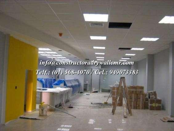 Expertos en ampliación y remodelacion en sistema drywall 5684070 / 949073383
