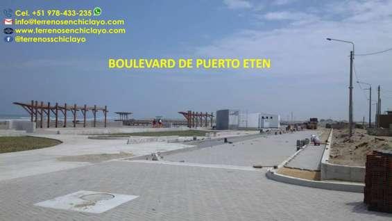 !!extraordinaria oportunidad!! excelente terreno de 544 m2 , frente a puerto eten