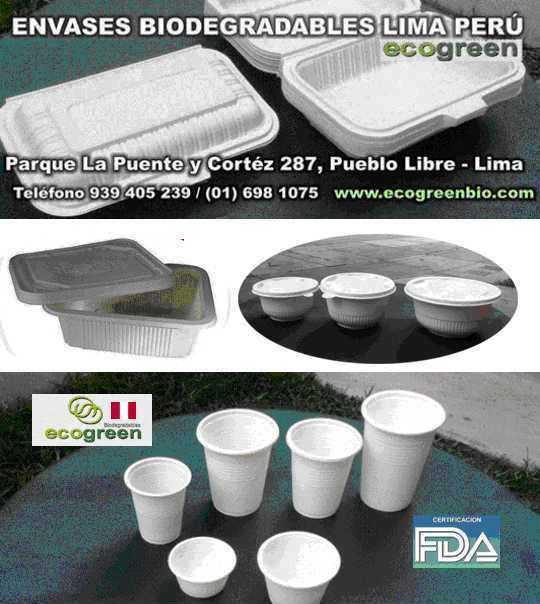Envases descartables biodegradables lima peru