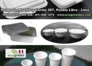 Envases descartables BIODEGRADABLES LIMA PERU