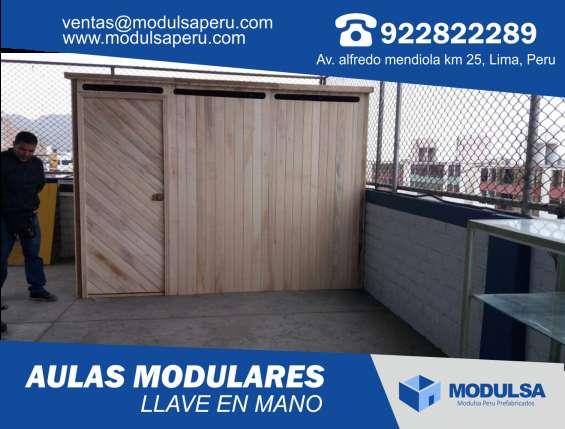 Aulas prefabricadas de madera