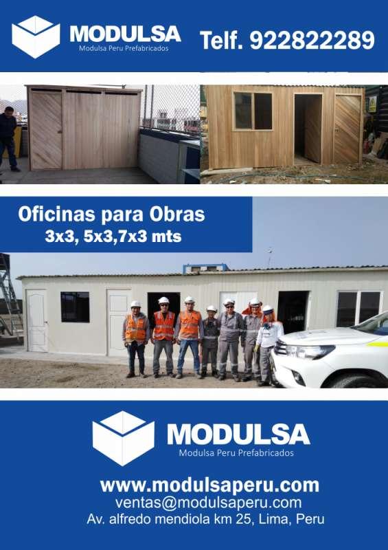 Oficinas en drywall para obras temporales