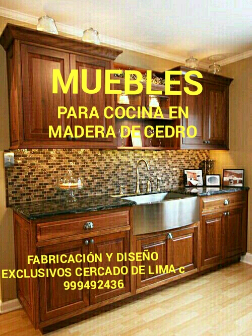 Muebles para cocinas exclusivos en madera de cedro lima perú