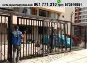 Reparacion y mantenimiento de puerta corredera en  surco
