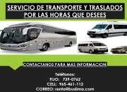 Servicio de transporte y traslados por las horas que desees