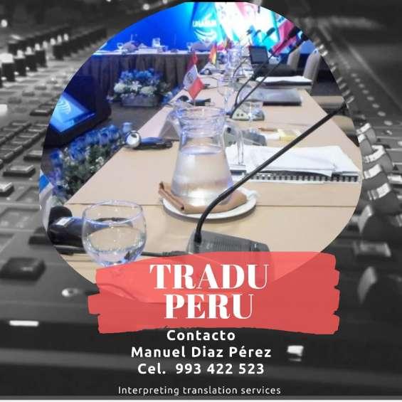 Equipos, traducción simultánea, ecran, audio y vídeo en todo el perú