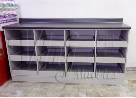 Fotos de Exhibidoras góndolas-checkout-canastas-coches-lockers-muebles de melamna 3