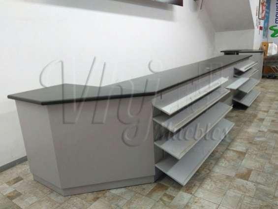 Fotos de Exhibidoras góndolas-checkout-canastas-coches-lockers-muebles de melamna 4