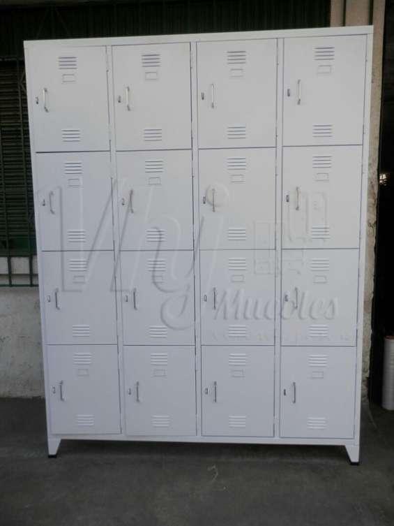 Fotos de Exhibidoras góndolas-checkout-canastas-coches-lockers-muebles de melamna 5