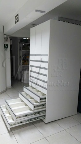 Mobiliario de dispensador de remedios de farmacias