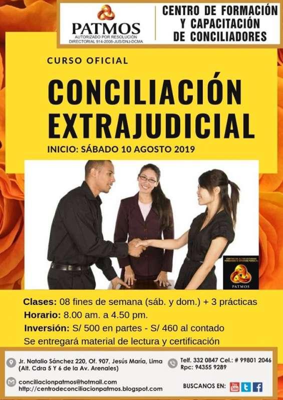 Curso conciliación extrajudicial básico