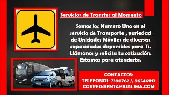 Servicios de transfer al momento
