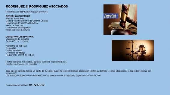 Rodriguez & rodriguez asociados : asesoria legal