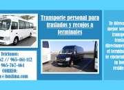 Transporte personal para traslados y recojos a terminales