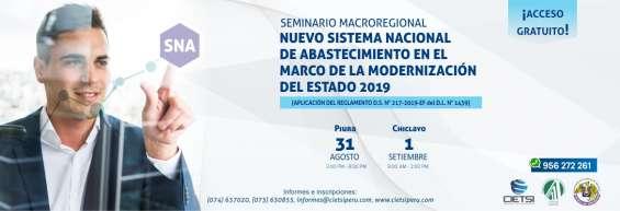 Seminario gratuito macroregional nuevo sistema nacional de abastecimiento