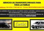 Servicios de transporte privado para toda la familia
