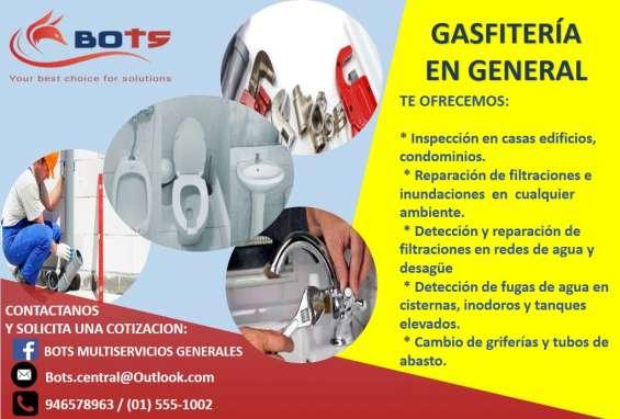 Servicio de gasfiteria en general