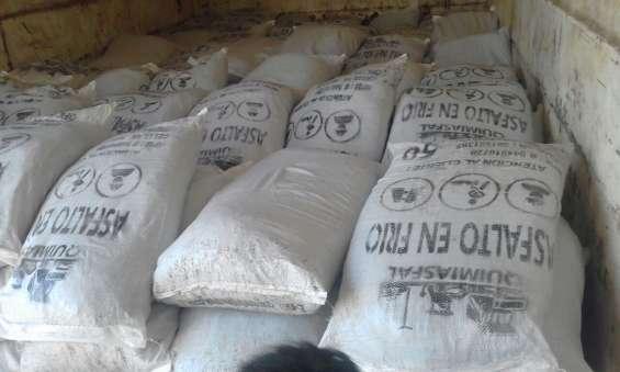 Asfalto en frio saco de 25 y 50 kilos envios a provincia