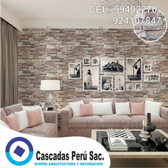 Piedra Laja Pared Decorativo Fachaleta Para Interior