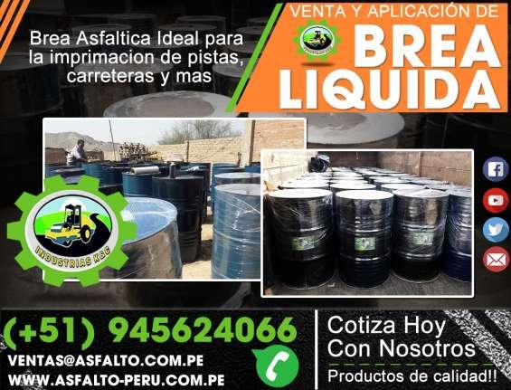 Venta de brea liquida c/cilindros, baldes